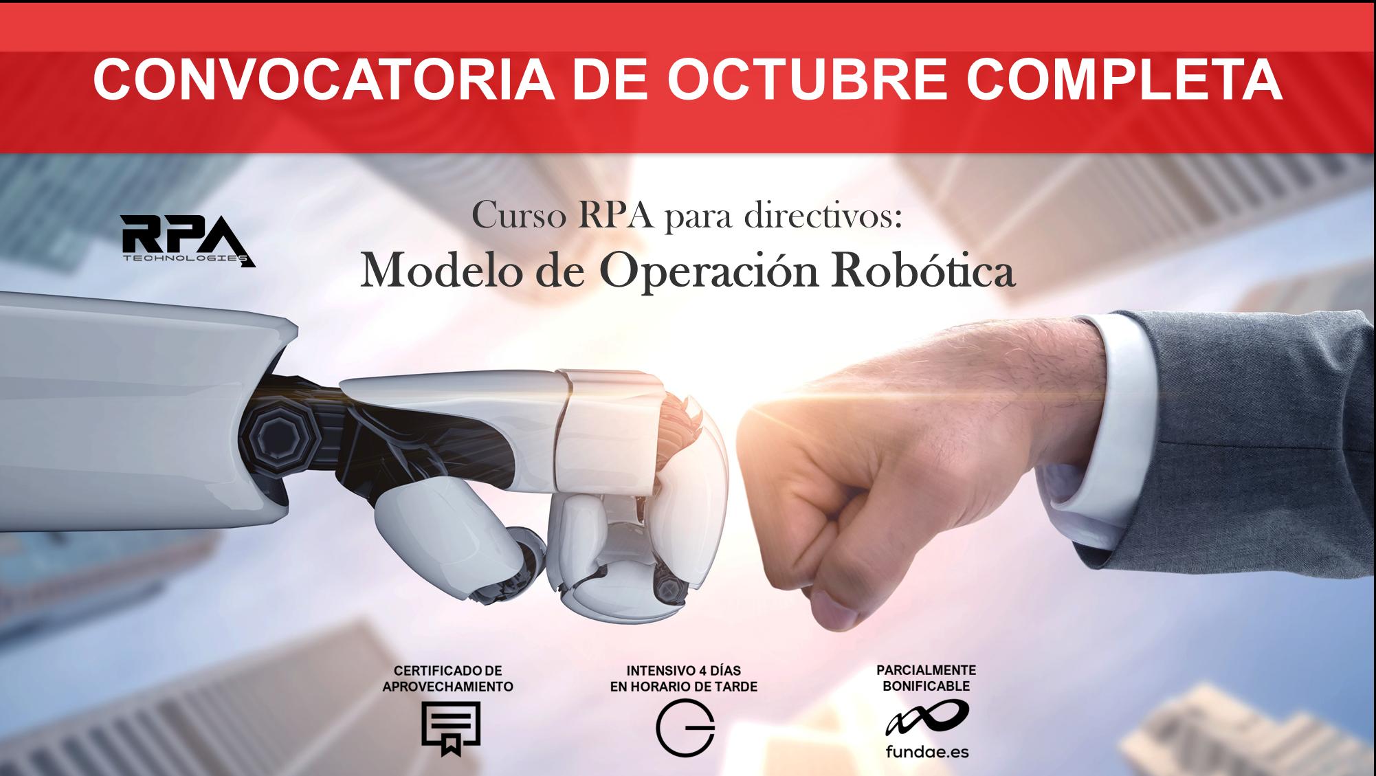 Formación RPA para directivos: «Modelo de Operación Robótica»